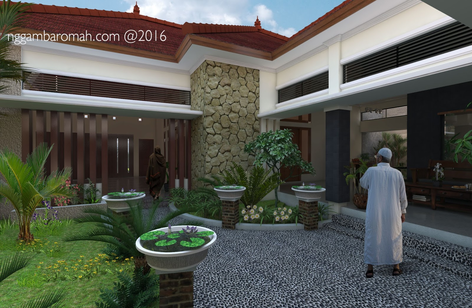 arsitektur bali modern nan tropis rumah bapak syafial