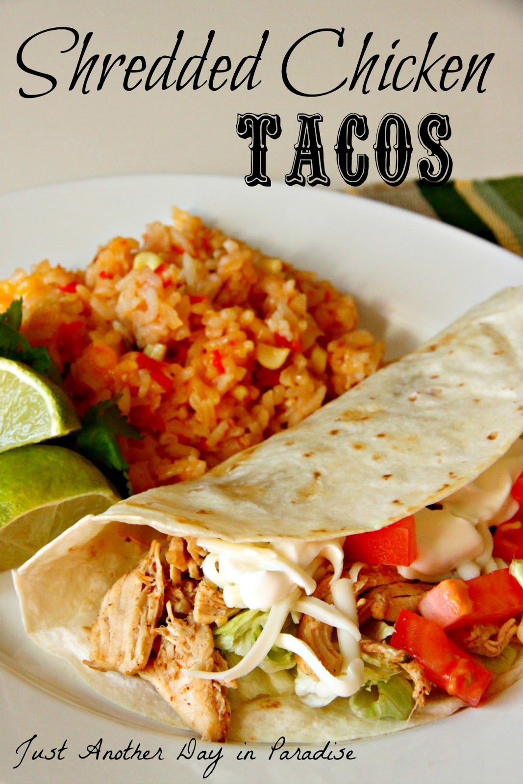 Larissa Another Day: Slow Cooker Saturday: Shredded Chicken Tacos