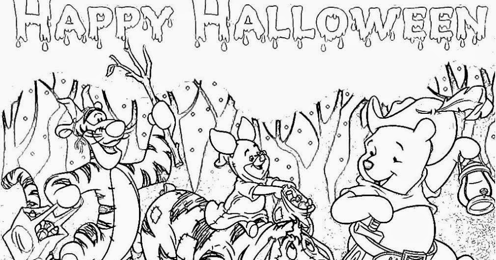 free winnie the pooh happy halloween coloring pages - Winnie The Pooh Halloween Coloring Pages
