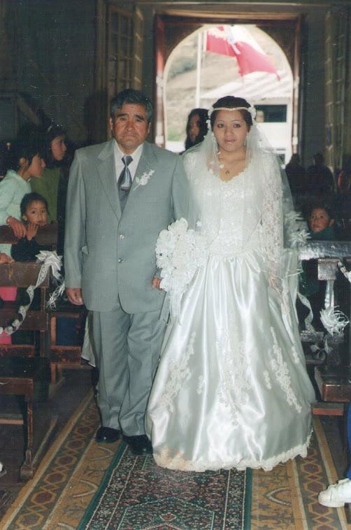 Mi adorado Papito el día de mi boda!!!