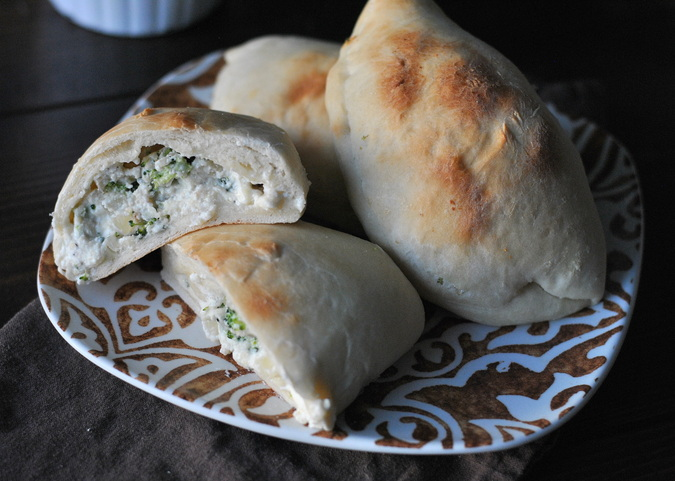 3 cheese broccoli calzones