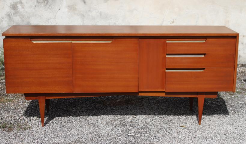 chicbaazar objets vintage 50 60 70 enfilade ann es 60 vintage. Black Bedroom Furniture Sets. Home Design Ideas