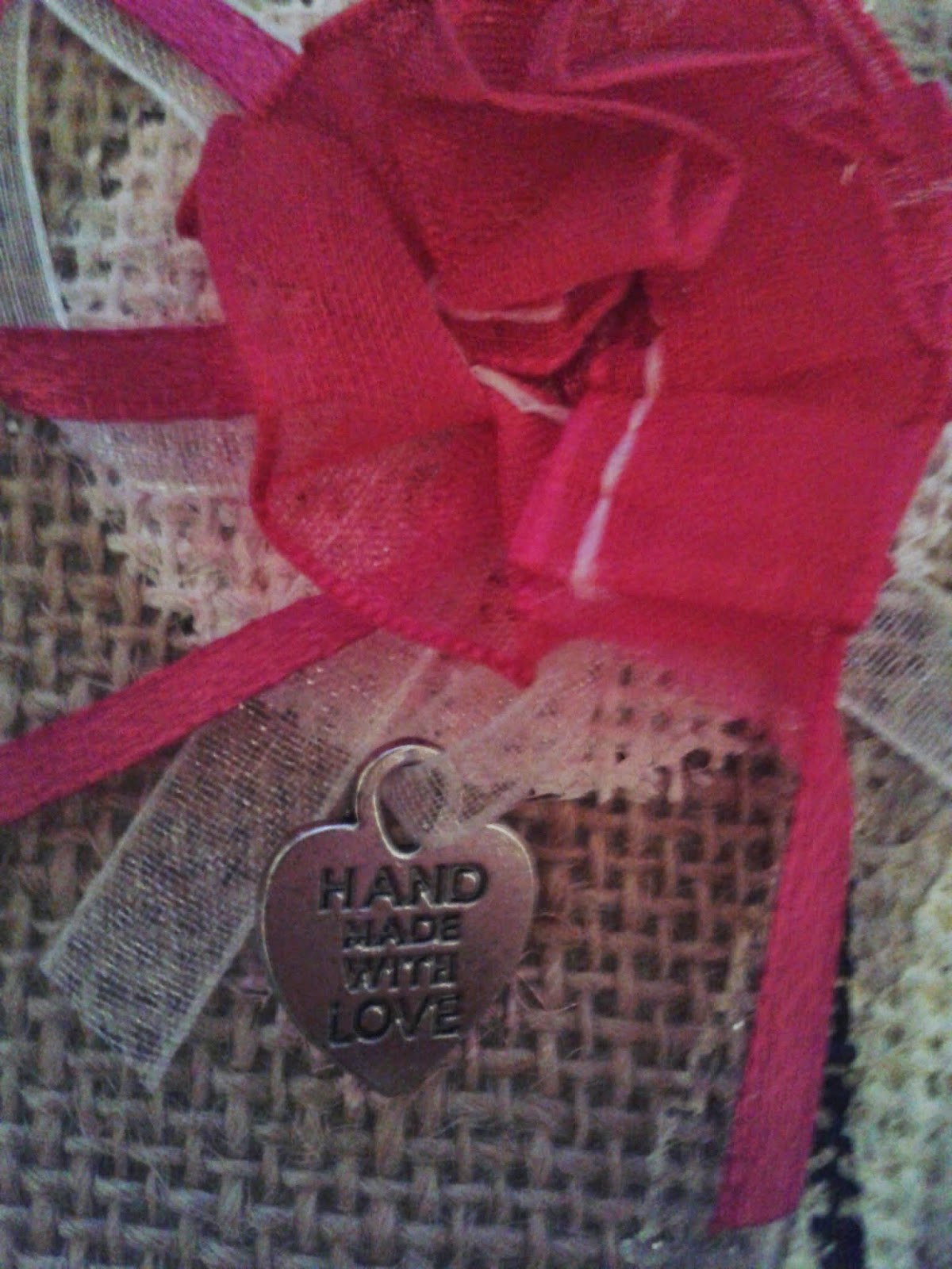Hand Made With Love silver charm