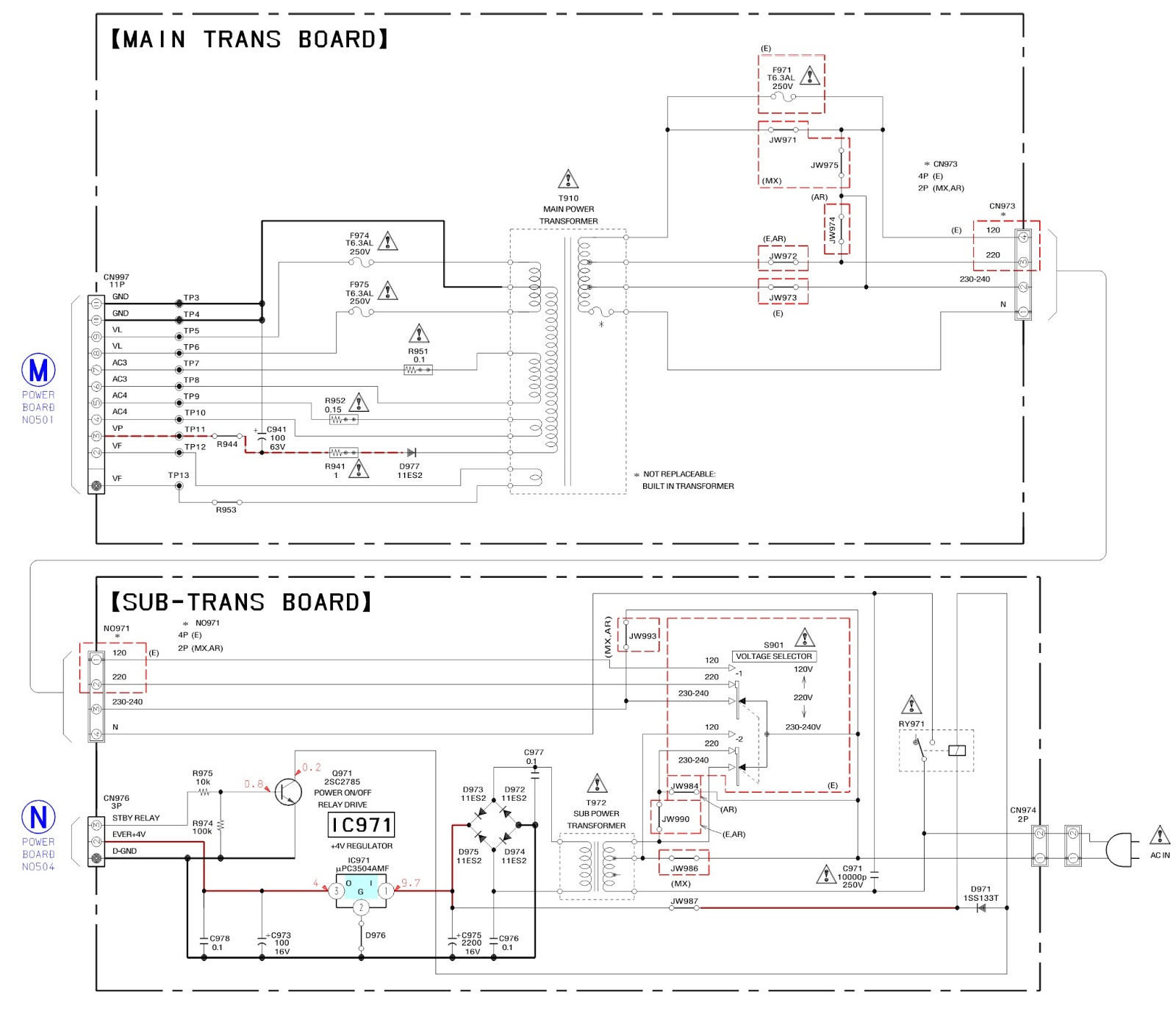 Sony Hcd Rg66t Stk 442 130 Power Amp Supply Schematics Circuit Board Diagram Test Mode Details Click On Pictures To Zoom In
