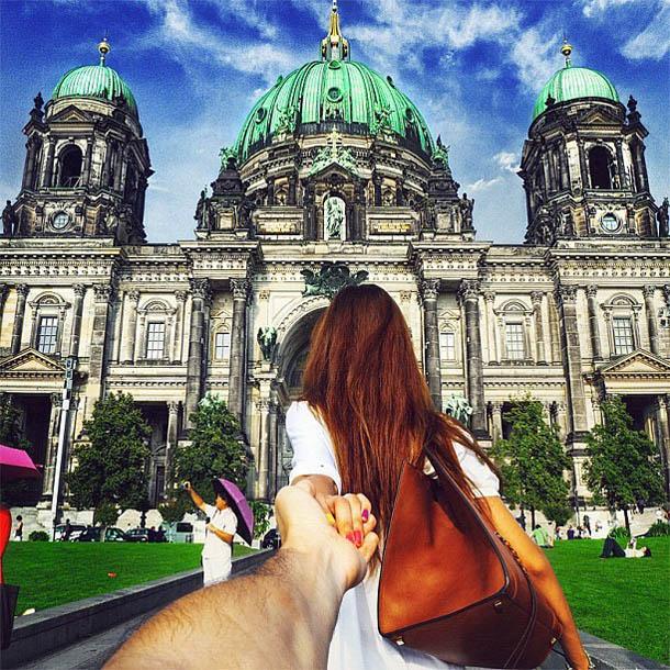 Follow Me To - Berlim - Fotógrafo Murad Osmann segue a namorada pelo mundo