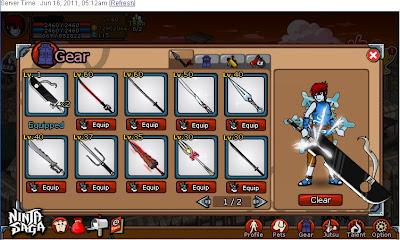 Cheat Zanto Weapon Ninja Saga [damage 99999999]