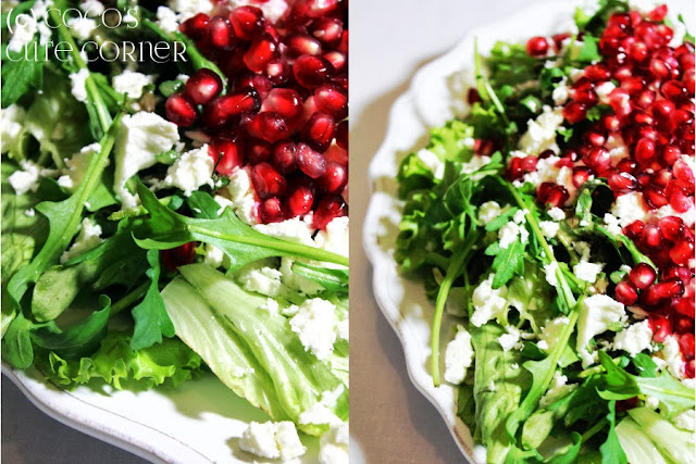 Salad with Feta and Pomegranate