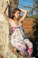 Teener Emily 18 strips naked in the woods!