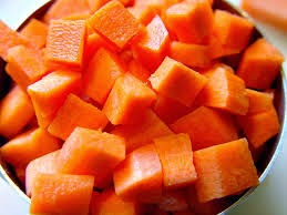 chopped carrot pieces