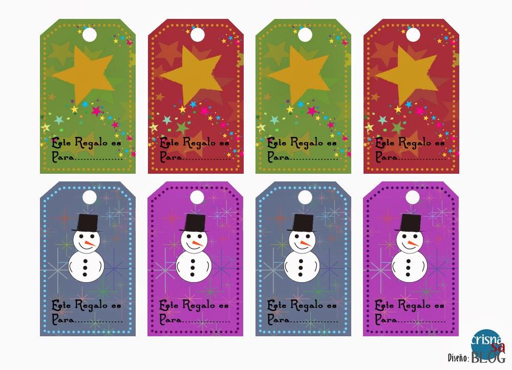 Para imprimir stickers para regalos de navidad - Etiquetas para regalos para imprimir ...