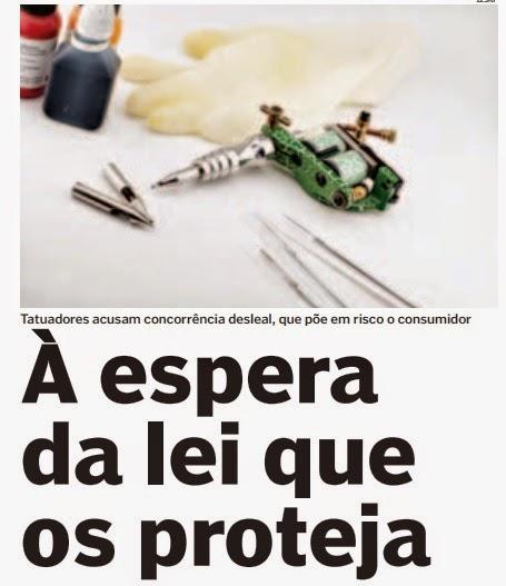 entrevista jornal Destak dada por Sérgio Santos Blood Oath Tattoos sobre tema legislação de tatuagem em portugal