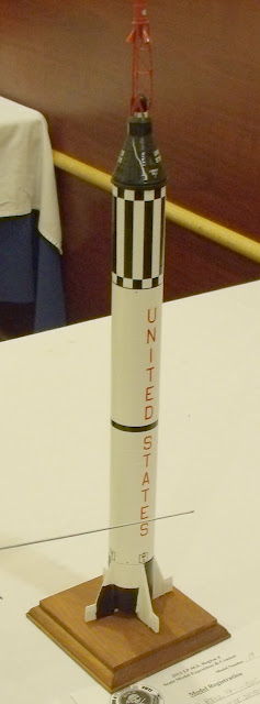Mercury Redstone rocket model