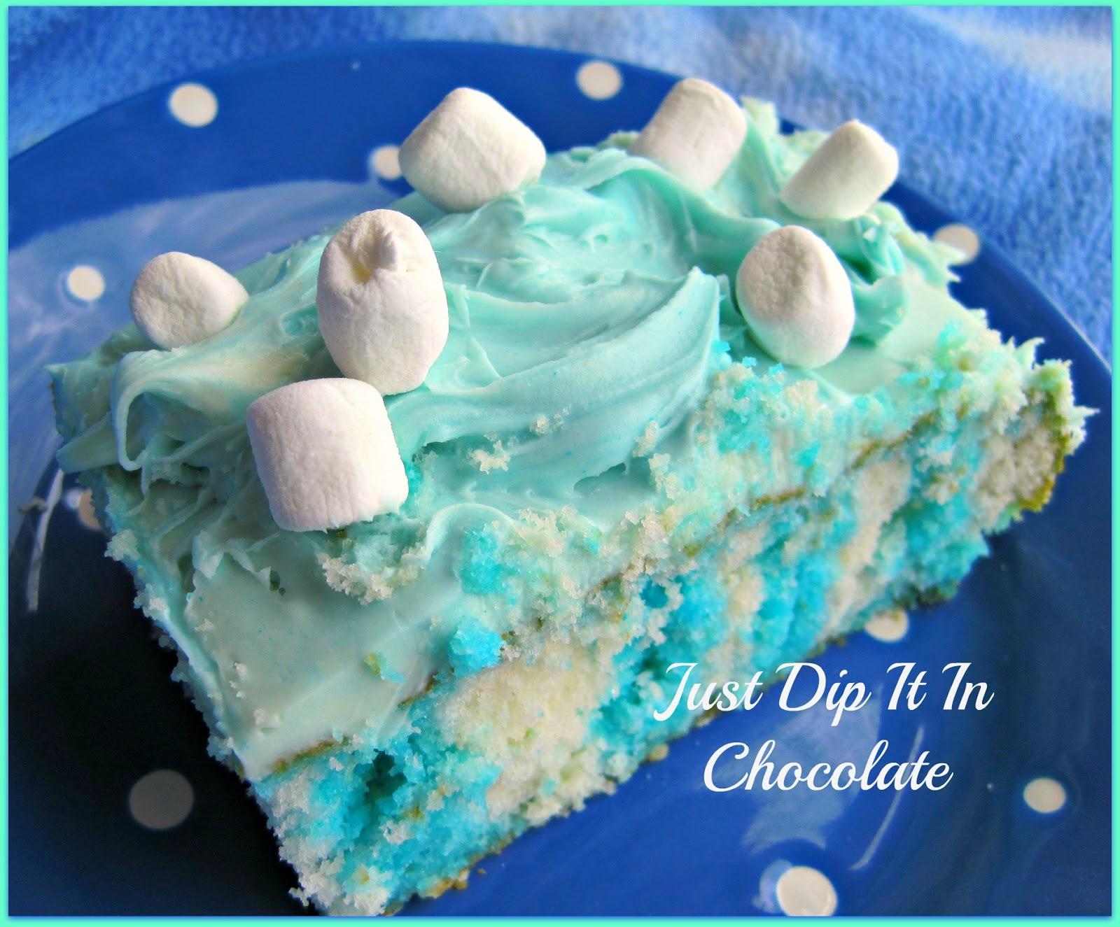 Blue Jello Poke Cake Jello-o Poke Cake