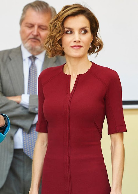 "Queen Letizia attends the Opening of the training course 2015-2016 Secondary School ""Javier García Tellez"". Caceres"