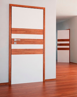 Drzwi z kolekcji Classen Doors & Floors z elementami ozdobnymi z paneli podłogowych.