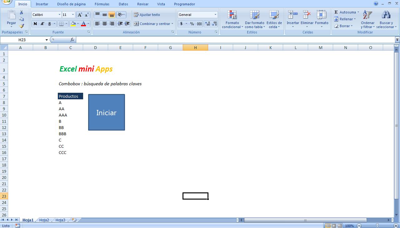 mini aplicaciones en Excel: Búsqueda con palabra clave en formulario ...