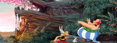 Couverture facebook timeline Asterix et Obelix