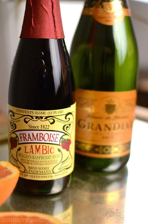 Framboise Lambic and Sparkling Wine Cocktail