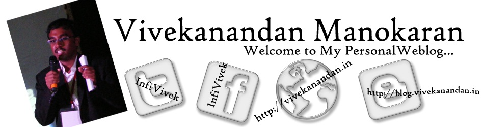 Vivekanandan Manokaran - The Weblog of a Software Engineer