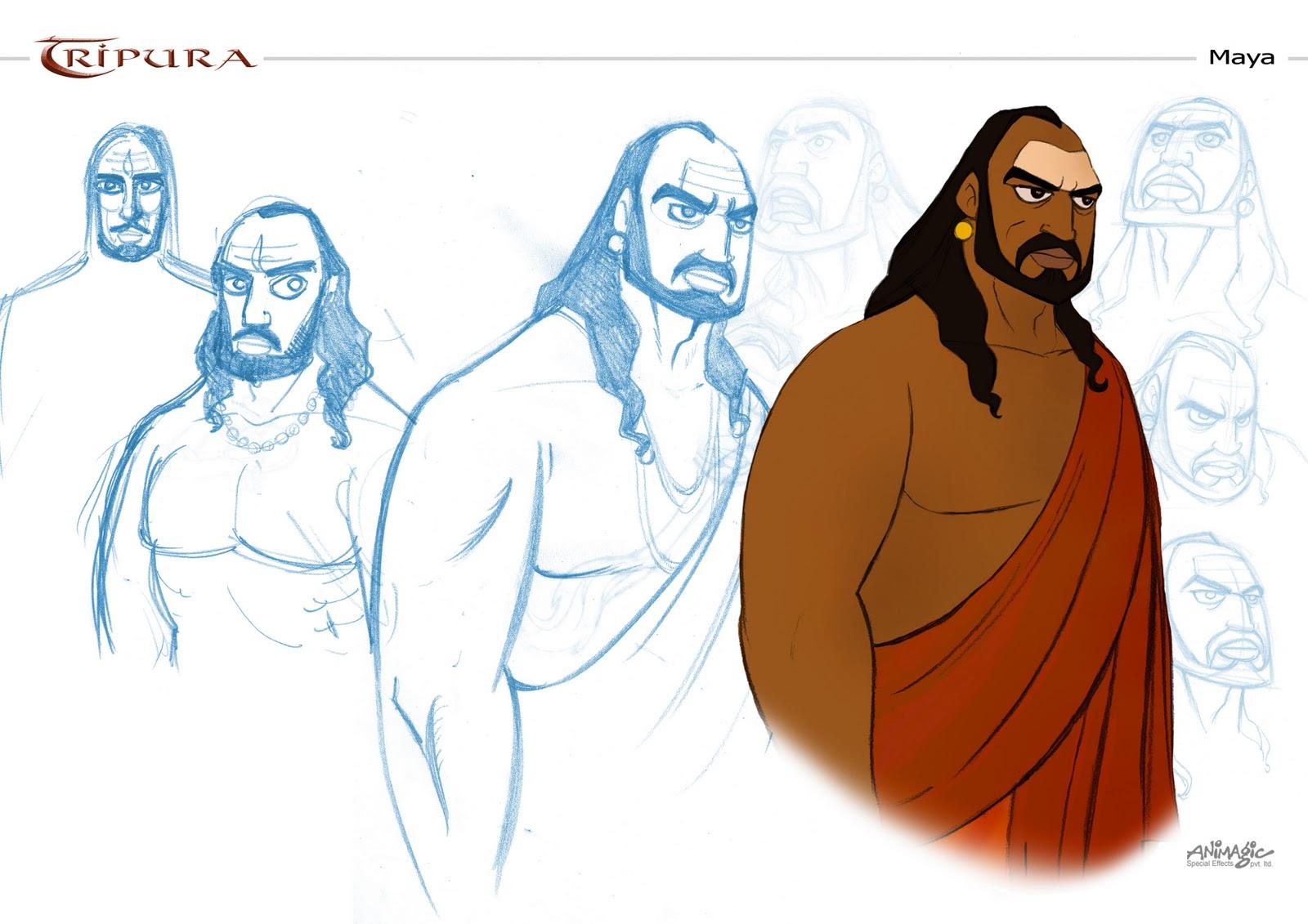 Character Design Maya : Chaitanya atman tripura character designs maya