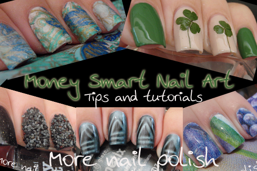 Money smart nail art tips and tutorials more nail polish nail art ideas specifically ones that dont require you to purchase anything and can be created with items you are likely to have around the house prinsesfo Images