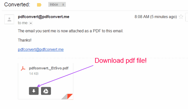 Email to pdf convertor without using any application