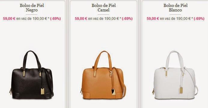 Oferta de bolsos en varios colores por sólo 59 euros
