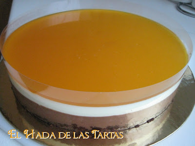 El hada de las tartas tarta de dos chocolates con aroma for Duo harinero