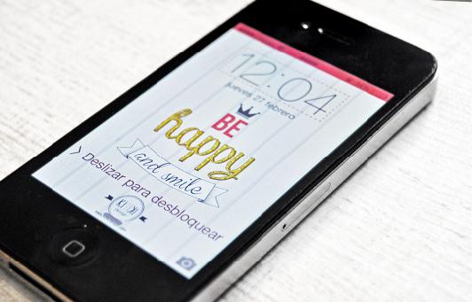 fondo original para iphone be happy