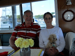 Klass, Bettie and their best friend aboard YA in Beaufort.