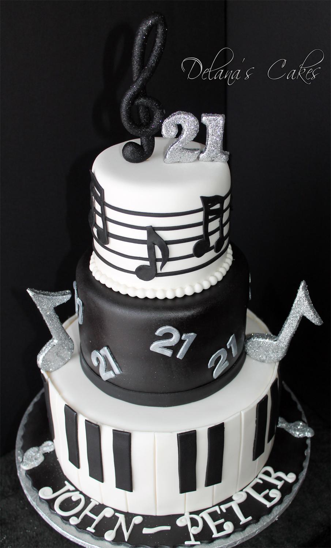 Delana S Cakes Musical Notes Cake