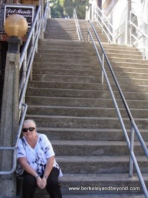 hillside stairway in Sausalito, California