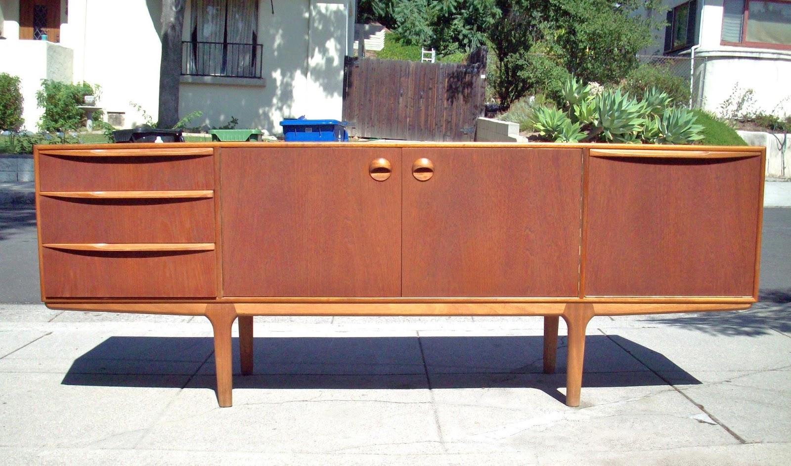 True vintage modern sorry sold mid century danish modern bedroom set dresser credenza for Danish teak bedroom furniture
