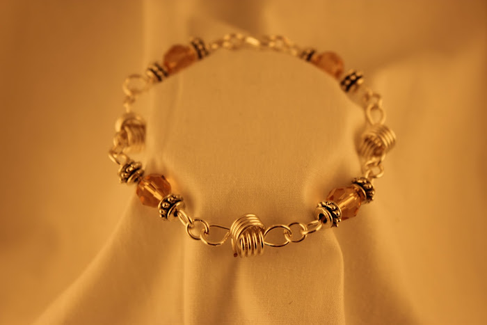 Crystal and Love Knot Bracelet