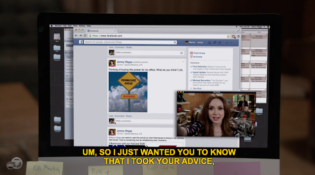 Glad this was the actual Facebook and not whatever the fuck they call Facebook on The Good Wife. That show calls it Lookspace or some corny shit.