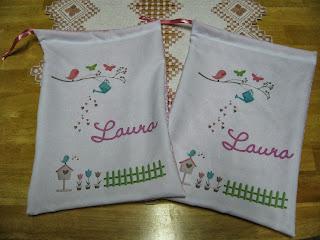Alearts presentes personalizados saquinho em tecido e for Azulejos personalizados