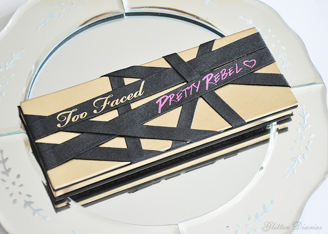 Too Faced, Pretty Rebel, Eyeshadow Palette, review, pigmentation, shimmery, matte, eyes, smokey, hot, fuchsia, smooth, instigator, badass, jailbird, gangsta, ringleader, miss sparkles, totally fetch, girly, charming, dainty, pretty, swatches, long lasting, bold, glitter diaries, sephora