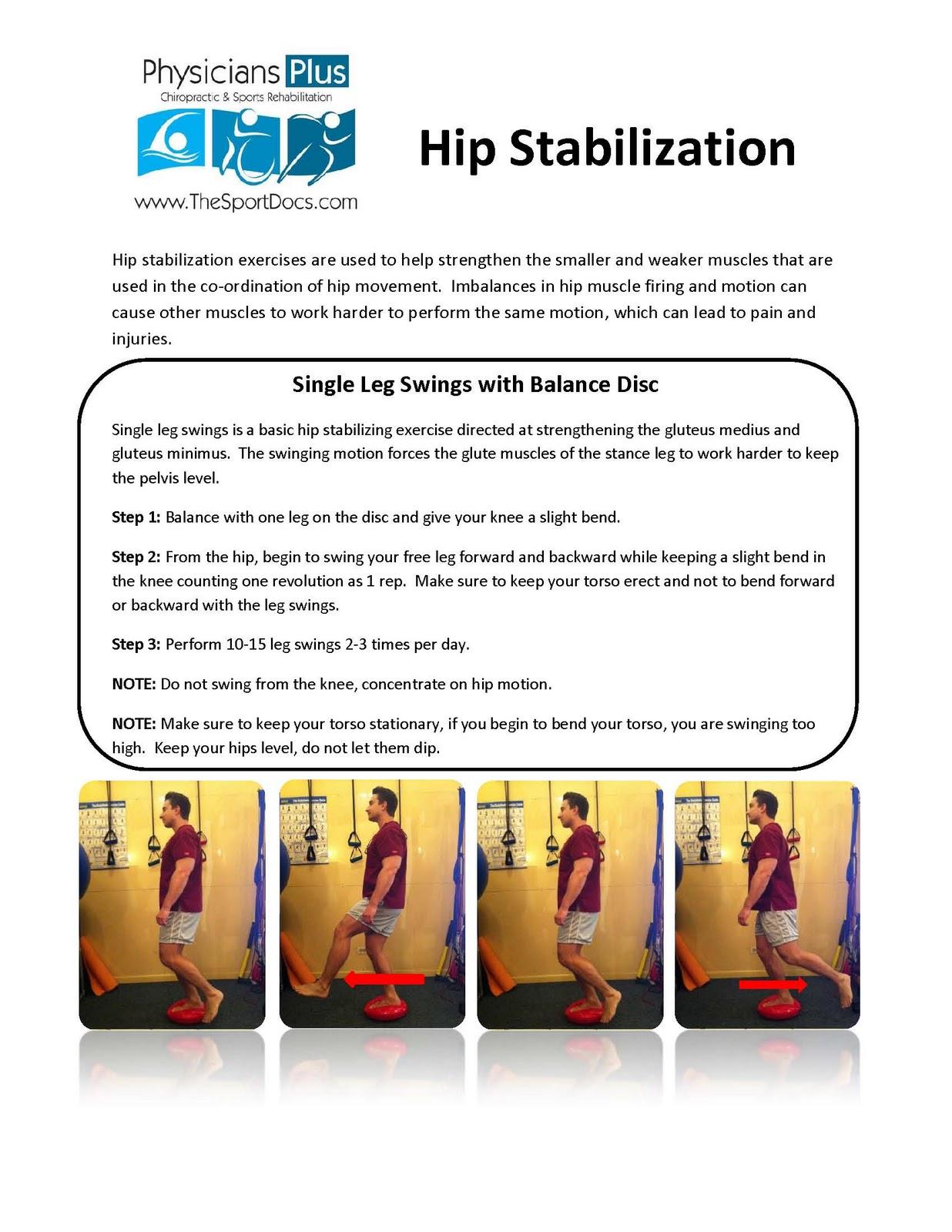 ... Sports Rehab: Physicians Plus Chicago - Hip Stabilization Exercises