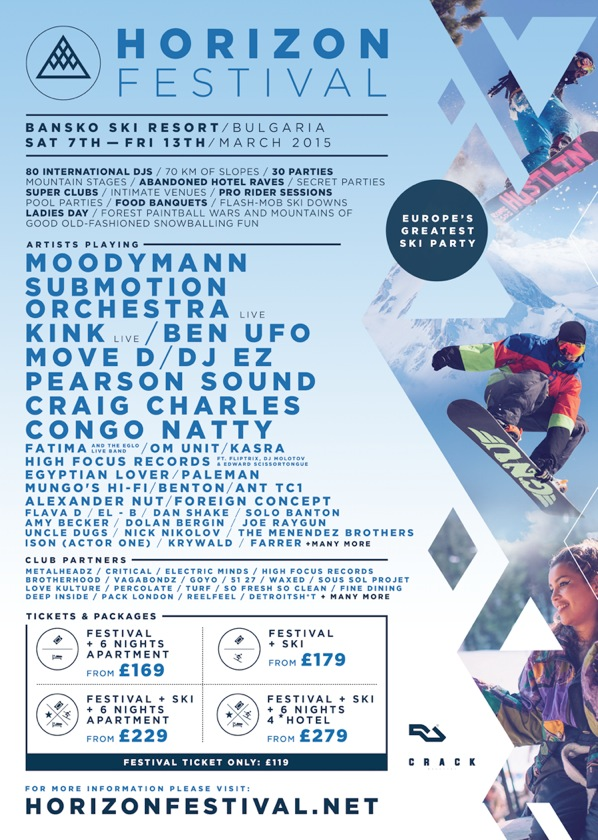 Craig Charles and Pearson Sound headliners Horizon Festival 2015