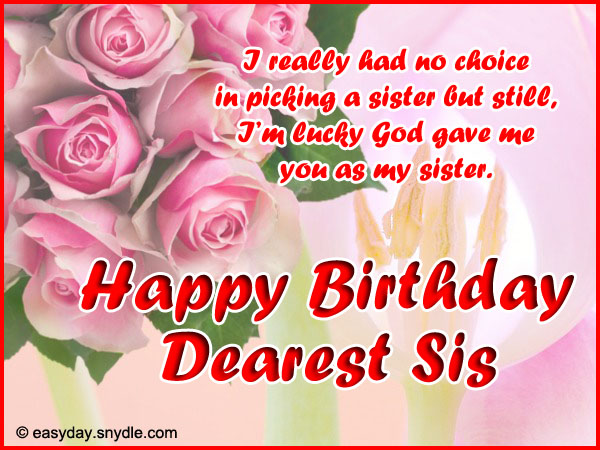 Birthday wishes for sister happy birthday little sister m4hsunfo
