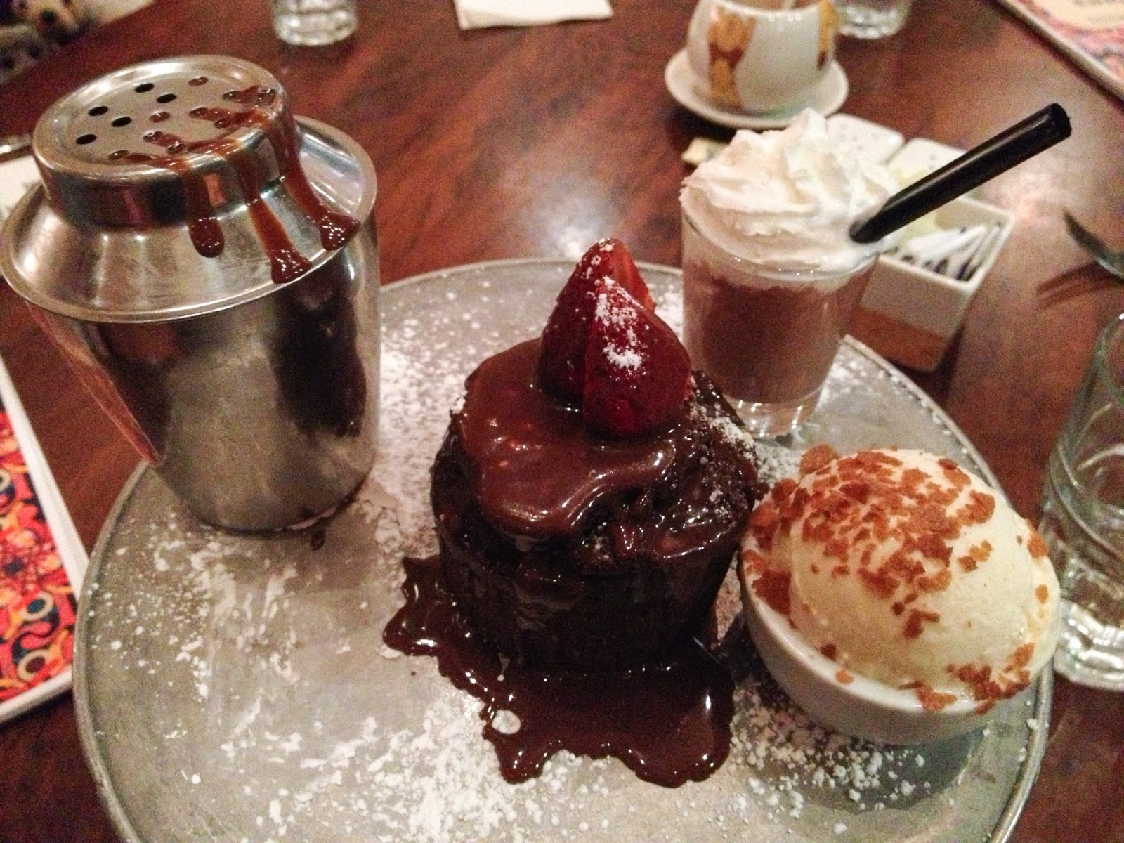 max brenner, chocolate by the bald man, lava cake, chocolate heart truffle cake, max brenner shake, chocolate spread