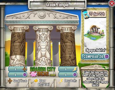 Ilha Olympus - Templo Grego