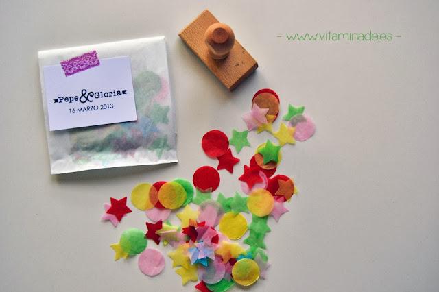 confettis con sello