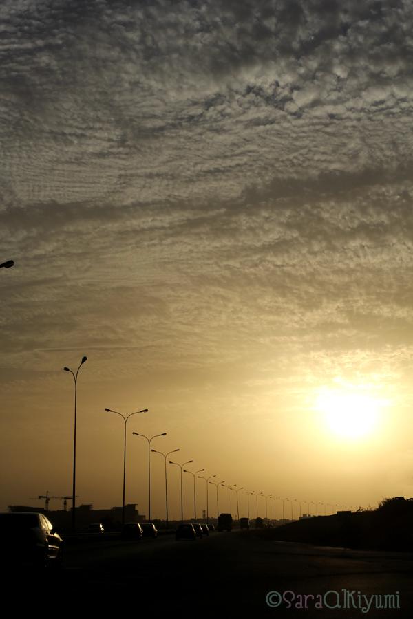 sunset in Oman