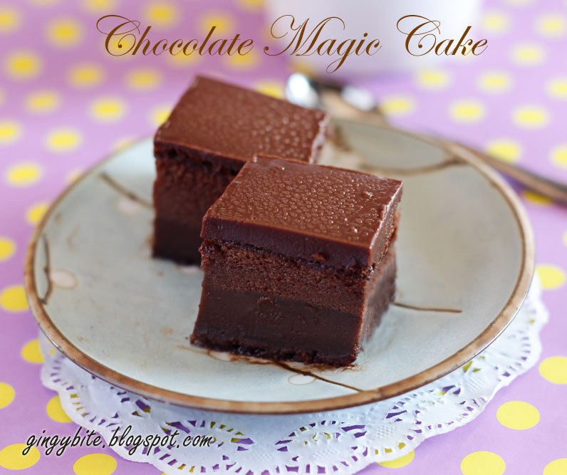 Chocolate Magic Cake The Yummy Journey