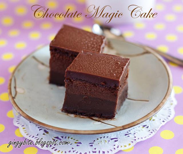 Chocolate Magic Cake 巧克力魔术蛋糕