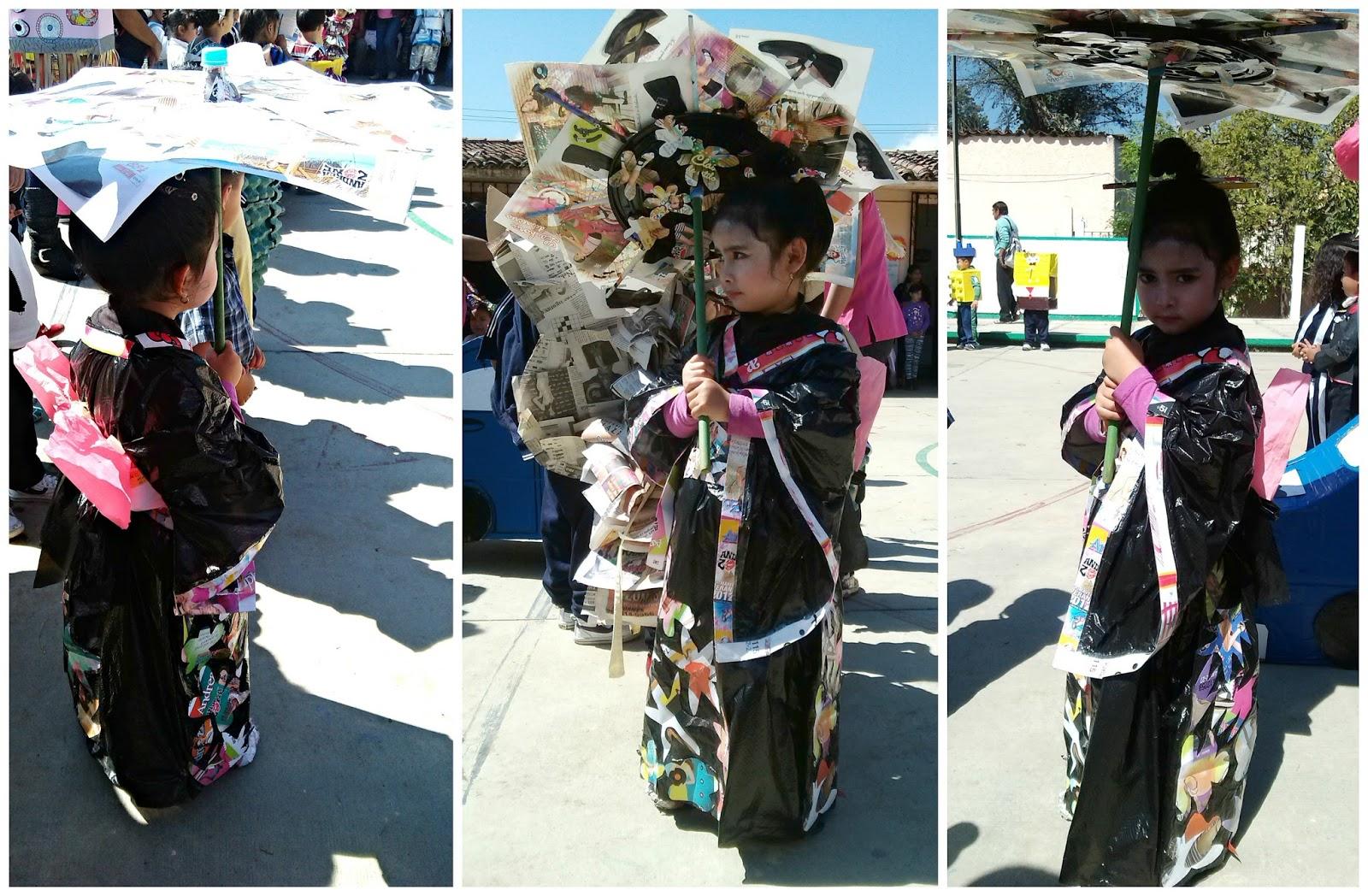 kimono papel reciclado