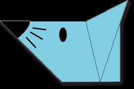Cara Membuat Origami Wajah Tikus
