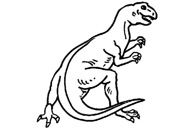 صورة ديناصور متوحش من القرون القديمة مفرغ للتلوين