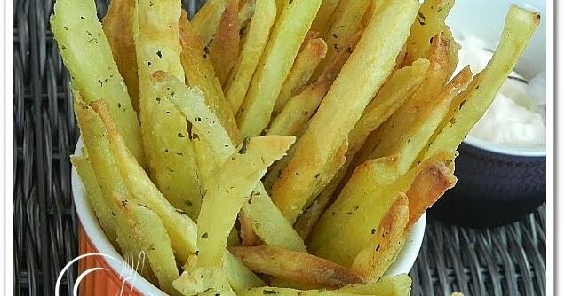 Batata Frita de Forno... Sequinha e Crocante